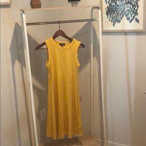 Cute gold color cotton dress